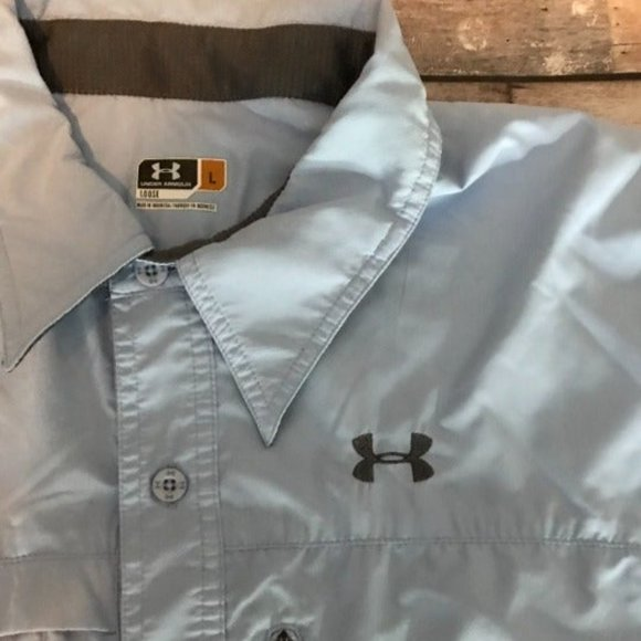 Baby Blue under armour loose fit shirt size Large